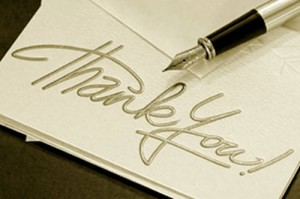 Send thank you notes to clients who give you referrals.